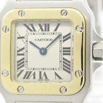 Cartier Polished Cartier Santos Galbee 18k Gold Steel Ladies...