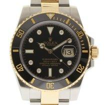 Rolex Submariner 116613 40mm Steel Gold Diamond 2014 Box/Paper...