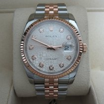 Rolex Datejust 36 Stainless Steel/18K Everose Gold/Diamond Dial