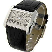 Cartier W6300655 Tank Divan Large Size Quartz - Steel on Strap