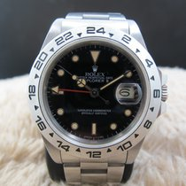 Rolex EXPLORER 2 16550 Black Dial with Creamy Lume and Fat...