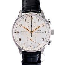 IWC Portugieser Chronograph Silver/Black - IW371445