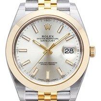 Ρολεξ (Rolex) Datejust 41 Edelstahl Gelbgold 126303 Silber...