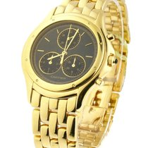 Cartier vintage_cougar_18kt_yg_blk_stick Cougar Chronograph in...