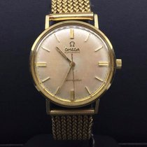 Omega Seamaster Vintage Watch 33mm 14k Yellow Gold Champagne...