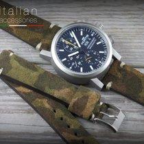 Cinturino pelle scamosciata 20 Camouflage marrone brown LS...
