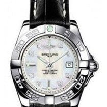 Breitling a71356L2/a708-1ct Galactic 32 Ladies Quartz in Steel...