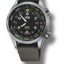 Oris Big Crown Propilot Altimeter With Feet Scale Date Grey