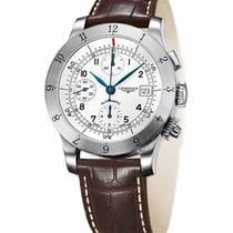 Longines Heritage Automatic Chronograph Steel Mens Strap Watch...