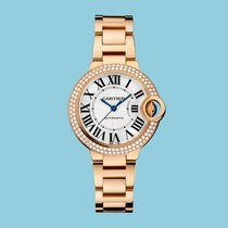 Cartier BALLON BLEU DE CARTIER 33 mm Rotgold Diamanten-NEU-