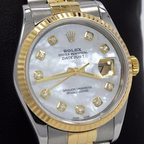 Rolex Datejust 16233 Jubilee 18k Yellow Gold & Ss Mop...