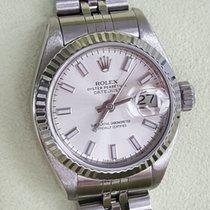 Rolex 26mm Date Just silver fat Dial no stretch wie 69174