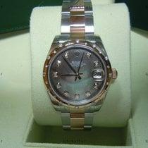 Rolex Date, Ref. 178341 - schwarz MOP Diamant ZB/Oysterband