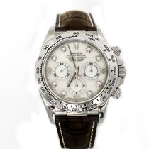 Rolex Daytona White Gold Mother of Pearl Diamond Dial