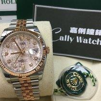 Rolex Cally - 116231 J 36mm Datejust RG & Steel Pink J...