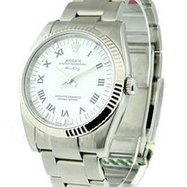 Rolex Unworn 114234 Air-King with White Gold Fluted Bezel -...