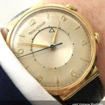 Jaeger-LeCoultre Rare  Memovox in Soid Gold with Hooded Lugs