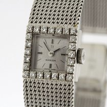 Omega Vintage Diamonds 18K White Gold  Ladies Cal. 484 from 1966