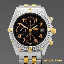 Breitling Chronomat Chronograph S.S & 18K Gold Box &...
