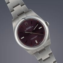 Rolex Oyster Perpetual 'Red Grape' stainless steel...