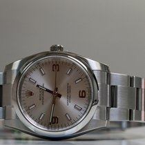 Rolex Oyster Perpetual 34mm silver3/6/9 Full  Set Unworn