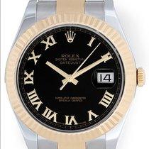 Rolex Datejust II 2-Tone 41mm 116333 Black Arabic Dial Watch