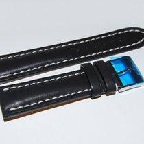 Breitling Kalbslederband mit Dornschliesse Schwarz 22-20 mm