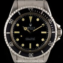 Rolex S/S Rare Meters First Non-Date Submariner B&P 5513