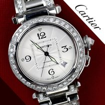 Cartier Pasha Automatic Mid Size Diamond Bezel Stainless Steel...