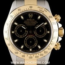 Rolex Steel & Gold Black Dial Cosmograph Daytona 116523
