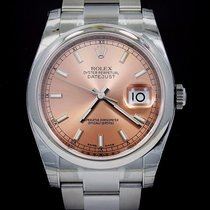 Rolex Datejust 116200 36mm Pink Salmon Stick Dial Oyster Watch