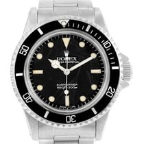 Rolex Submariner Vintage Spider Net Dial Steel Mens Watch 5513
