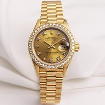 Rolex Lady DateJust 69138 18K Yellow Gold Diamond Dial &...
