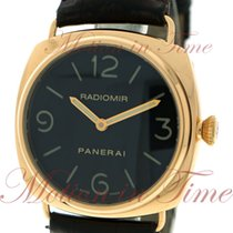 Panerai Radiomir Base, Black Dial - Rose Gold on Strap
