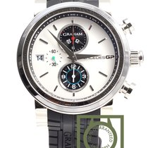 Graham Mercedes GP Trackmaster chronograph white dial NEW