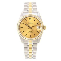 Tudor New  Glamour Date Gold And Steel Gold Automatic 72033-62...
