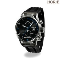 Locman Uomo  Montecristo 051000BKFBL0GOK crono nero gomma blu