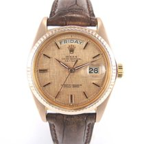 "Rolex Day-date Or rose 1803 ""cadran feuille d'or..."