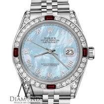 Rolex Ladies Rolex 26mm Datejust Baby Blue Mop Roman Numeral...