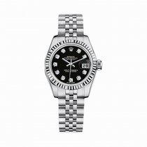 Rolex Datejust Pre-owned Black Diamond Dial Women's Watch