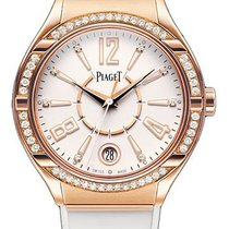 Piaget G0A35013 Polo Lady Forty Five with Diamond Bezel - Rose...