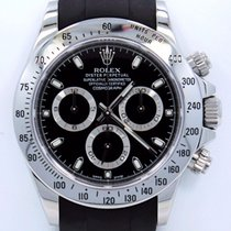 Rolex Daytona 116520 Cosmograph Steel Black Dial Rubber B...