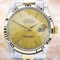 Rolex 16013 Quickset 18K Stainless Steel Automatic Men's...