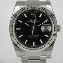 Rolex DATE 34MM  WHITE GOLD BEZEL