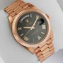 Rolex Day-Date President Rose Gold 40mm 228235 Green Roman Dial