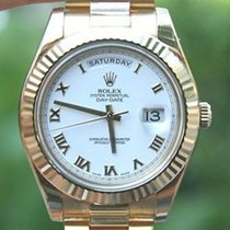 Rolex Mens 218238 Day Date Ii 18k Yellow Gold President 41mm...