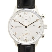 IWC Portuguese Chronograph Stainless Steel Silver Automatic...