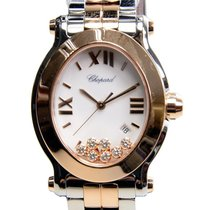Chopard Happy Sport 18k Rose Gold And Steel White Quartz...