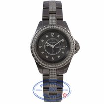 Chanel J12 Chronomatic Quartz 33MM Ceramic Diamond Bezel Bracelet
