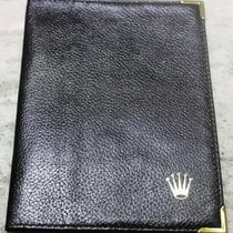 Rolex Genuine Vintage black leather card holder wallet